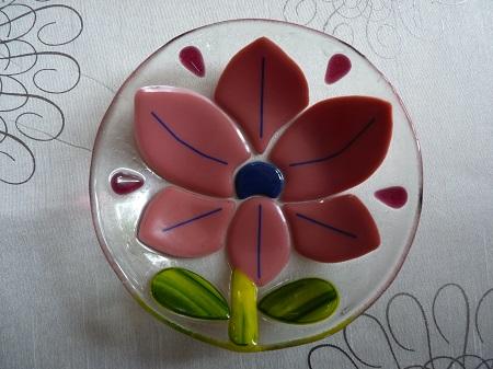 Bol avec une joli fleur rose