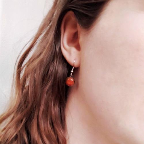 Boucles oreilles portées