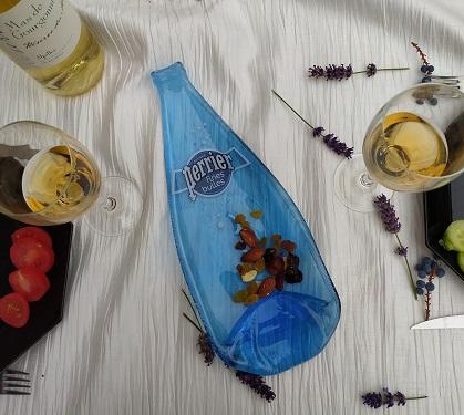 Bouteille apéritif bleue Perrier