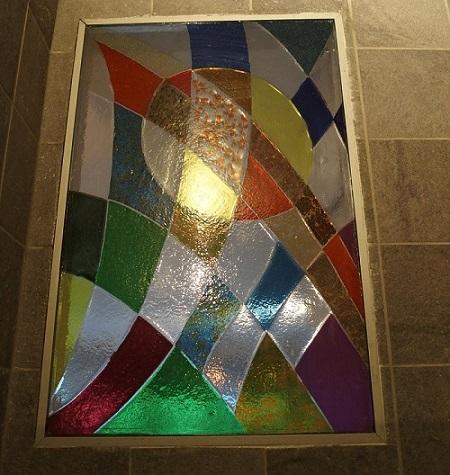 Photo du vitrail d'intérieur pour la maison nommé Ballon Cosmique